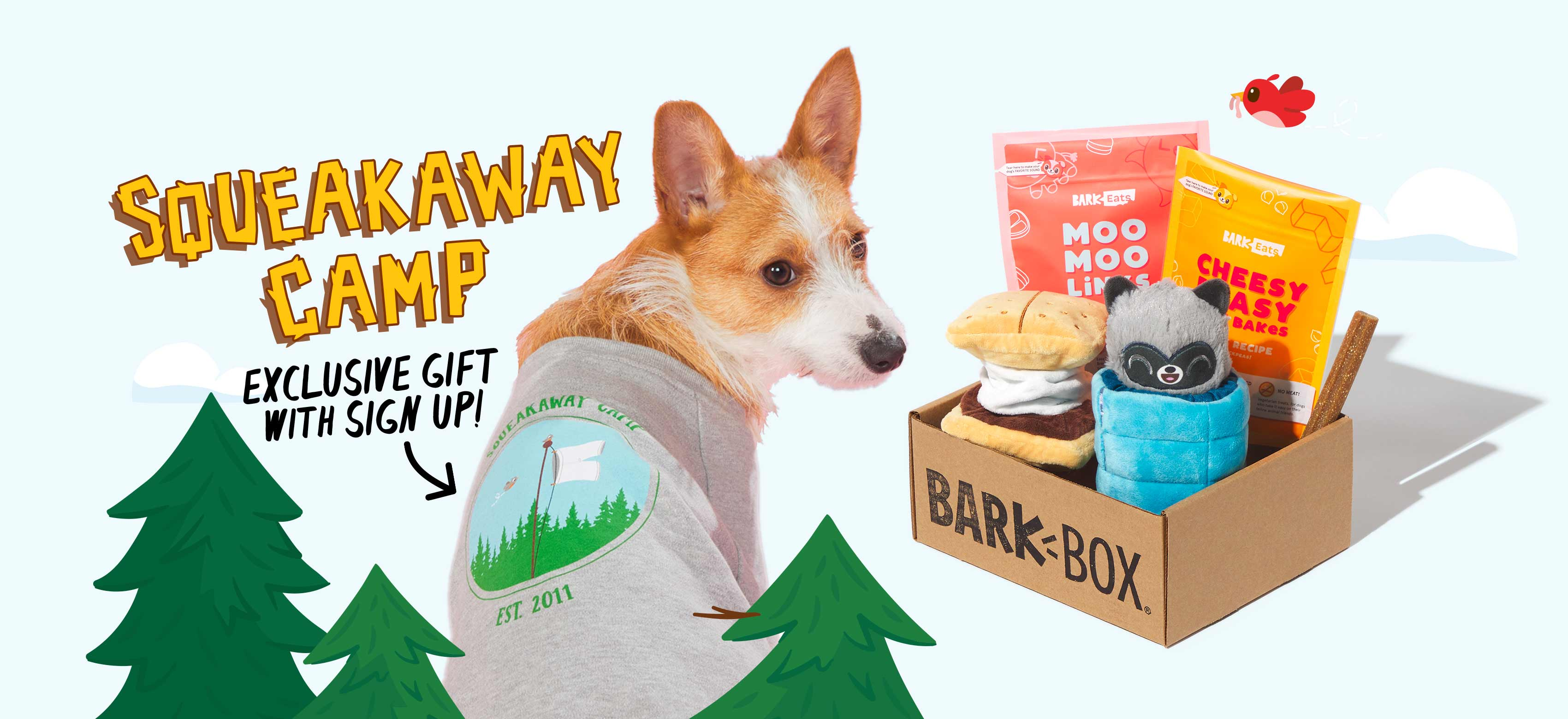 BarkBox, a monthly box of dog goodies starting at $23 per month